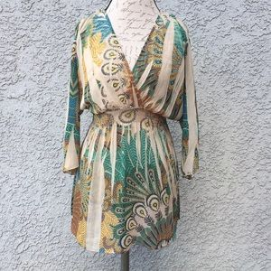 Multicolored sundress coverup tunic blouse 👚